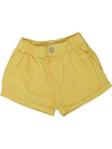 Short - Bermuda fille OKAIDI jaune 18 mois été #1497946_1