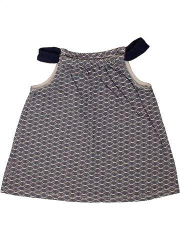 Camiseta sin mangas niña OKAIDI gris 18 meses verano #1497995_1