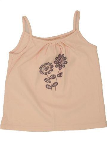 Camiseta sin mangas niña VERTBAUDET rosa 3 años verano #1497998_1