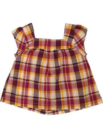 Blusa de manga corta niña VERTBAUDET marrón 2 años verano #1498006_1