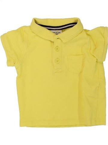 Polo de manga corta niño TAPE À L'OEIL amarillo 6 meses verano #1498198_1