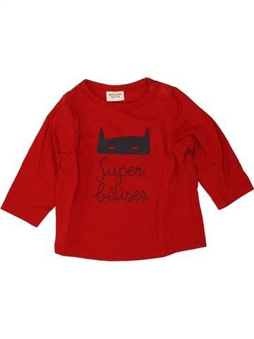 T-shirt manches longues garçon TAPE À L'OEIL rouge 9 mois hiver #1498218_1