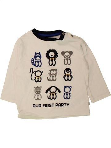 Camiseta de manga larga niño OKAIDI azul 12 meses invierno #1498444_1