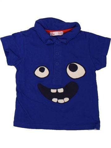 Polo de manga corta niño DPAM azul 6 meses verano #1498450_1
