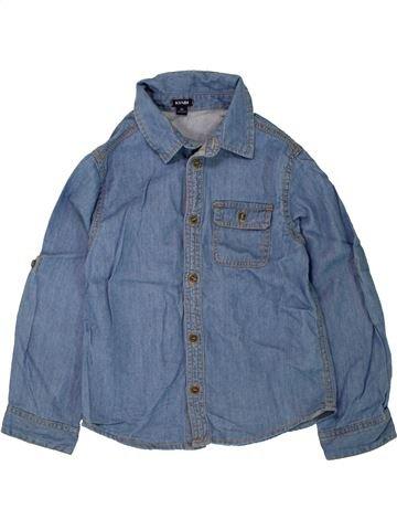 Chemise manches longues garçon KIABI bleu 5 ans hiver #1498594_1