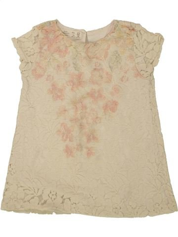 Camiseta de manga corta niña ZARA beige 3 años verano #1498606_1