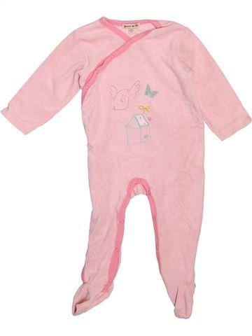 Pyjama 1 pièce fille GRAIN DE BLÉ violet 9 mois hiver #1498805_1
