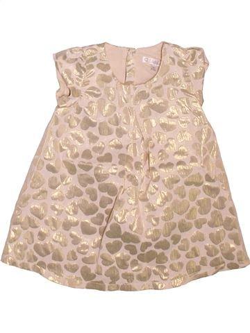 Vestido niña KIABI beige 9 meses verano #1498811_1