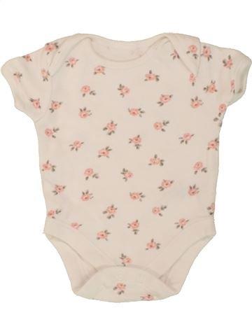 Camiseta de manga corta niña GEORGE beige 3 meses verano #1498840_1