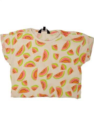 T-shirt manches courtes fille NEW LOOK beige 11 ans été #1498868_1