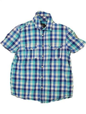 Chemise manches courtes garçon H&M bleu 14 ans été #1498900_1