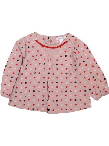 Blouse manches longues fille OKAIDI rose 12 mois hiver #1498907_1