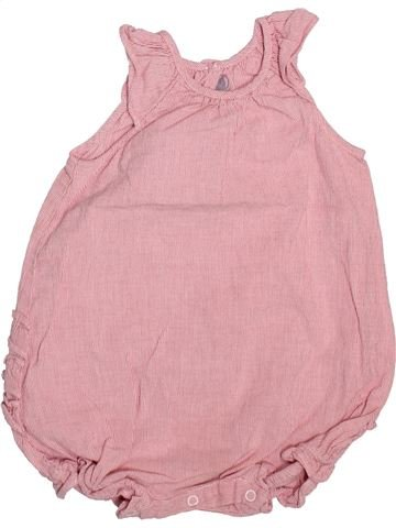 Combinación corta niña PETIT BATEAU rosa 12 meses verano #1498918_1