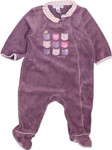 Pyjama 1 pièce fille OKAIDI violet 6 mois hiver #1498930_1