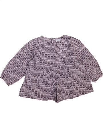 Blouse manches longues fille OKAIDI gris 6 mois hiver #1498934_1