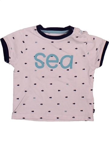T-shirt manches courtes garçon OKAIDI rose 6 mois été #1498955_1