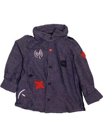 Chemise manches longues garçon IKKS gris 6 mois hiver #1498965_1