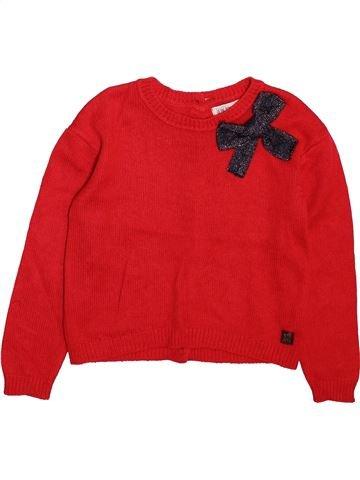 jersey niña JEAN BOURGET rojo 6 años invierno #1498999_1