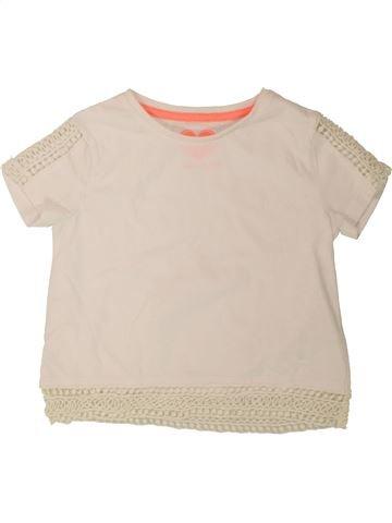 Camiseta de manga corta niña F&F beige 8 años verano #1499115_1