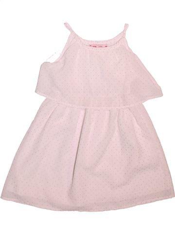 Vestido niña GEMO blanco 4 años verano #1499172_1