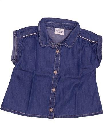 Blusa de manga corta niña TAPE À L'OEIL azul 6 meses verano #1499213_1