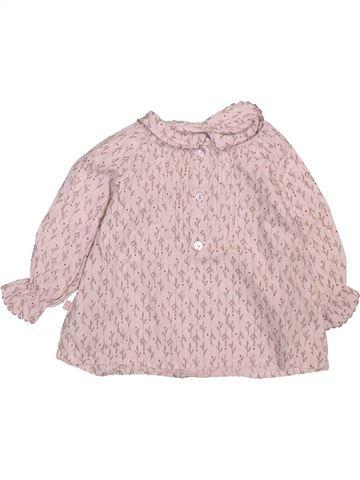 Blusa de manga larga niña OKAIDI rosa 6 meses invierno #1499218_1