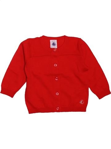 Chaleco niña PETIT BATEAU rojo 6 meses invierno #1499221_1