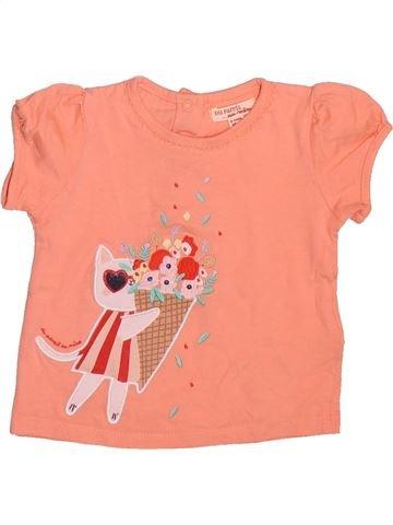 T-shirt manches courtes fille DPAM orange 6 mois été #1499228_1