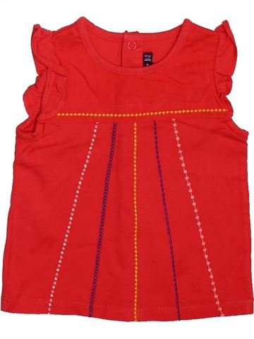 T-shirt manches courtes fille SERGENT MAJOR rouge 9 mois été #1499234_1