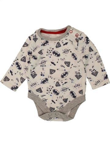 T-shirt manches longues garçon GEORGE blanc 3 mois hiver #1499427_1