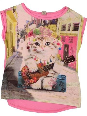 Camiseta de manga corta niña TU rosa 6 años verano #1499451_1