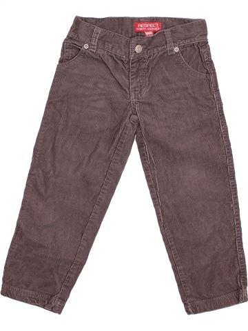Pantalón niño RESPECT gris 3 años invierno #1499525_1