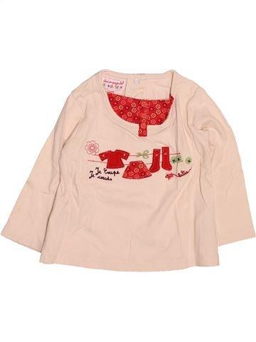 T-shirt manches longues fille LA COMPAGNIE DES PETITS beige 12 mois hiver #1499559_1