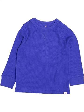 Camiseta de manga larga niño GAP azul 4 años invierno #1499989_1