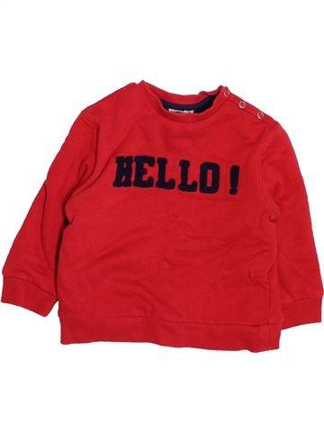 Sudadera niño CYRILLUS rojo 18 meses invierno #1500091_1