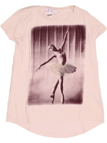 Camiseta de manga corta niña LA REDOUTE CRÉATION rosa 10 años verano #1500100_1
