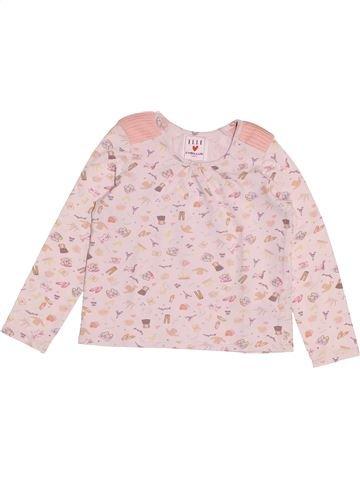 Camiseta de manga larga niña CYRILLUS blanco 6 años invierno #1500173_1