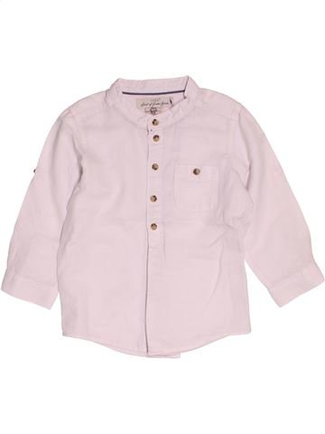 Chemise manches longues garçon H&M blanc 2 ans été #1500189_1