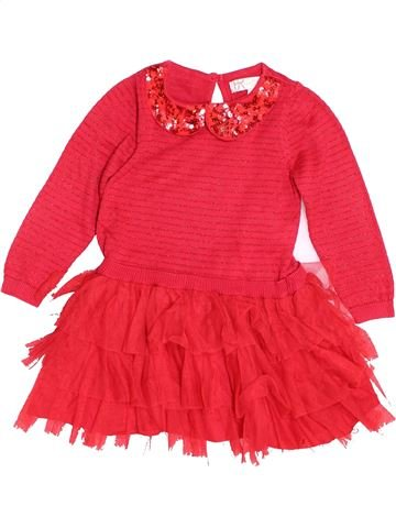 Robe fille MARYLEBONE rouge 3 ans hiver #1500263_1