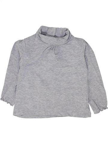 T-shirt manches longues fille VERTBAUDET gris 18 mois hiver #1500295_1