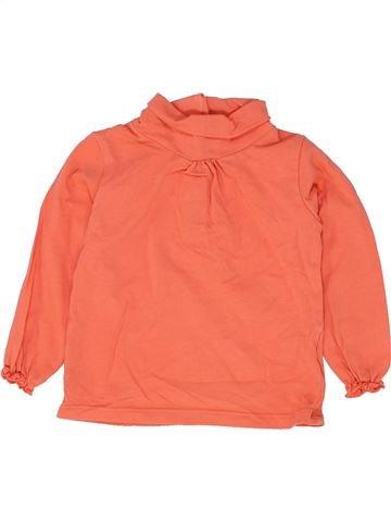 T-shirt col roulé fille VERTBAUDET orange 18 mois hiver #1500306_1