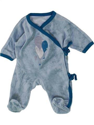 Pyjama 1 pièce garçon VERTBAUDET bleu naissance hiver #1500360_1