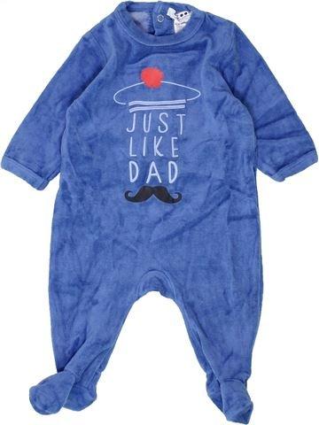 Pyjama 1 pièce garçon LA REDOUTE CRÉATION bleu 3 mois hiver #1500397_1