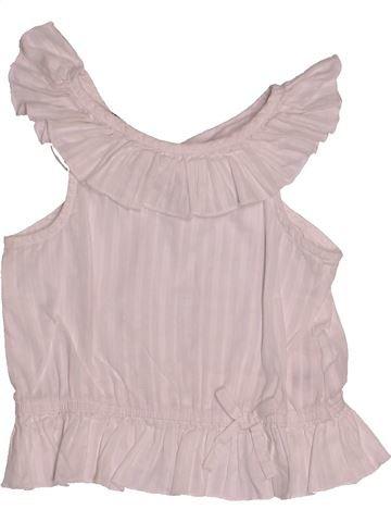 Blouse manches courtes fille H&M blanc 2 ans été #1500401_1
