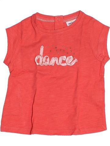 T-shirt manches courtes fille TAPE À L'OEIL rose 6 mois été #1500482_1