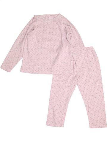 Pyjama 2 pièces fille MONOPRIX rose 4 ans hiver #1500607_1