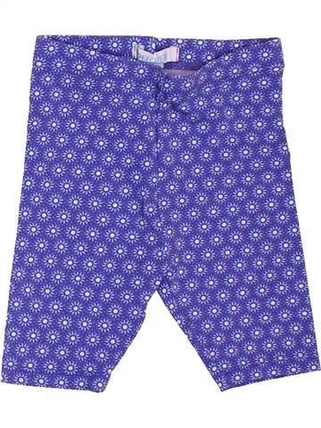 Legging niña OKAIDI violeta 6 meses verano #1501147_1