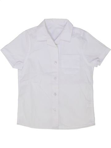 Chemise manches courtes garçon F&F NEWBORN blanc 7 ans été #1501523_1