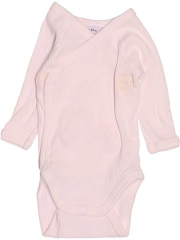 T-shirt manches longues unisexe PETIT BATEAU blanc naissance hiver #1502091_1