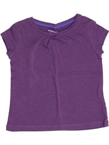 T-shirt manches courtes fille VERTBAUDET violet 2 ans été #1502700_1